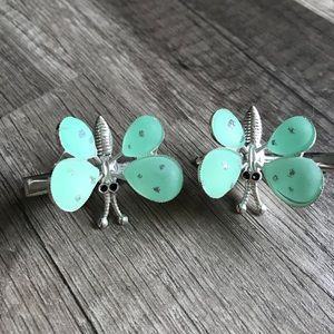 90's butterfly hair clips moving wings